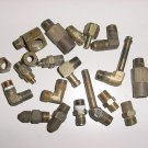 Lot of AN Hydraulic Tube and Hose Brass Fittings