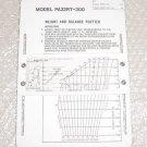 38386-002, 582-846, Piper PA32RT-300 Weight & Balance Plotter