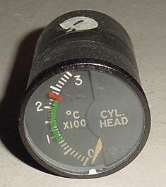 MS28004-1, 147B32A, Aircraft Cylinder Head Temperature Indicator