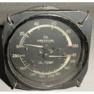 WWII Aircraft 2 in 1 Oil Pressure, Oil Temperature Indicator