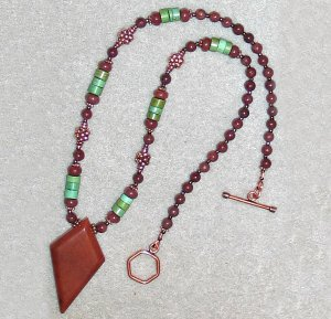 Chocolate Aventurine,Copper&Turquoise Necklace