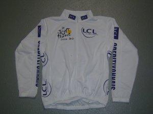 TOUR DE FRANCE WHITE CYCLING BIKE JERSEY SZ L