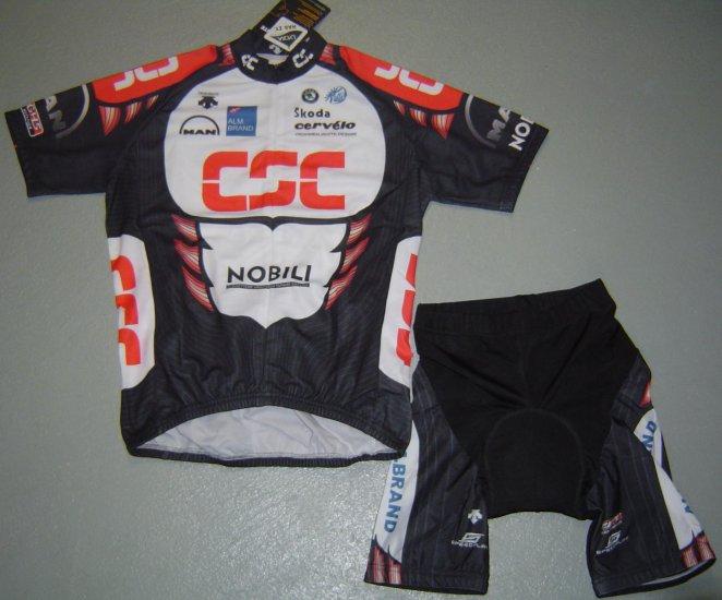 CSC TEAM CYCLING BIKE JERSEY AND SHORTS KIT SZ XL