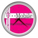 T-MOBILE PRO CYCLING TEAM SILVER WALL CLOCK NEW (FREE SHIPPING!!)