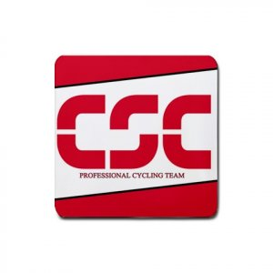 CSC TEAM CYCLING DRINK COASTERS (SET OF 4!) NEW (FREE SHIPPING WORLDWIDE!!)