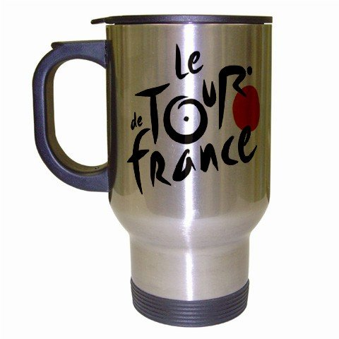 TOUR DE FRANCE STAINLESS STEEL TRAVEL COFFEE MUG (FREE SHIPPING WORLDWIDE!!)