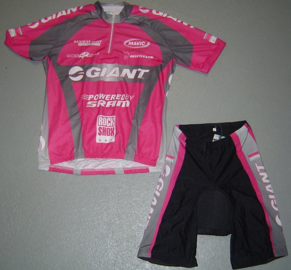 GIANT TEAM CYCLING CYCLE JERSEY AND SHORTS KIT SZ L
