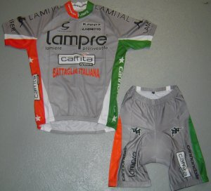 LAMPRE CYCLING CYCLE BIKE JERSEY AND SHORTS KIT SZ XL