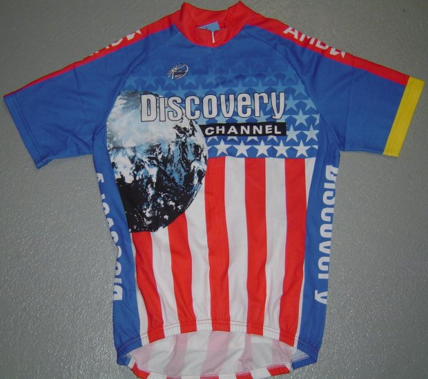 DISCOVERY CHANNEL US CHAMP CYCLING CYCLE BIKE JERSEY SZ M