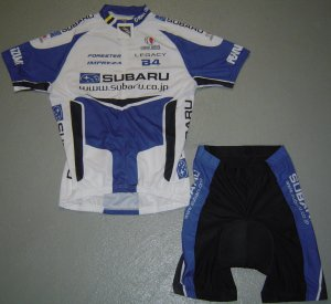SUBARU CYCLING CYCLE BIKE JERSEY AND SHORTS KIT SZ XL
