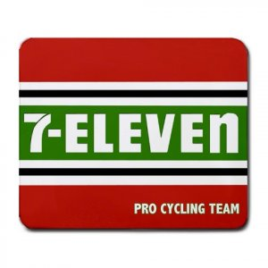 7-ELEVEN PRO CYCLING TEAM MOUSE PAD NEW (FREE SHIPPING WORLDWIDE!!)