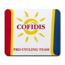 COFIDIS PRO CYCLING TEAM MOUSE PAD NEW (FREE SHIPPING WORLDWIDE!!)