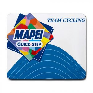 MAPEI TEAM CYCLING MOUSE PAD NEW (FREE SHIPPING WORLDWIDE!!)