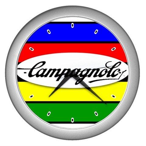 CAMPAGNOLO CAMPY CYCLING  SILVER WALL CLOCK NEW (FREE SHIPPING!!)