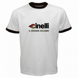 CINELLI IL GRANDE CICLISMO CYCLE BIKE FRAME RINGER T-SHIRT SZ L (FREE SHIPPING WORLDWIDE!!)