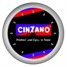 CINZANO PROFESSIONAL CYCLING TEAM SILVER WALL CLOCK NEW (FREE SHIPPING!!)