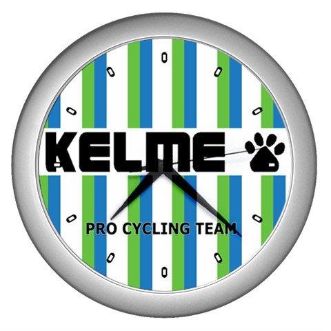 KELME PRO CYCLING TEAM SILVER WALL CLOCK NEW (FREE SHIPPING!!)