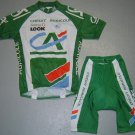 CREDIT AGRICOLE CYCLING TEAM JERSEY AND SHORTS KIT SZ M