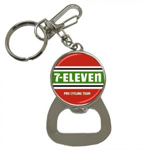 7-ELEVEN TEAM BOTTLE OPENER KEY CHAIN CYCLING NEW (FREE SHIPPING WORLDWIDE!!)