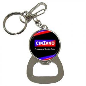 TEAM CINZANO BOTTLE OPENER KEY CHAIN CYCLING NEW (FREE SHIPPING WORLDWIDE!!)