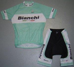 BIANCHI TEAM CYCLING CYCLE BIKE JERSEY AND SHORTS SZ M