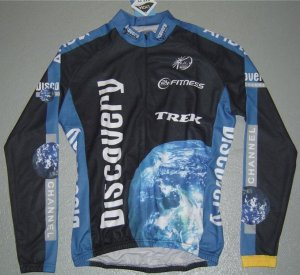 DISCOVERY CHANNEL LONG SLEEVE JERSEY & TIGHTS KIT SZ L