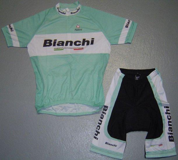 BIANCHI TEAM CYCLING CYCLE BIKE JERSEY AND SHORTS SZ XXL