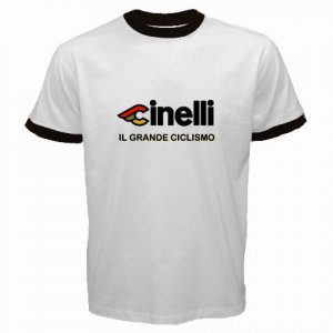 CINELLI CICLISMO CYCLE BIKE FRAME RINGER T-SHIRT SZ L (FREE SHIPPING WORLDWIDE!!)