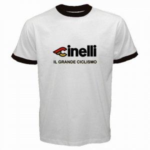 CINELLI CICLISMO CYCLE BIKE FRAME RINGER T-SHIRT SZ XL (FREE SHIPPING WORLDWIDE!!)