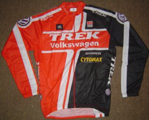 VOLKSWAGEN/TREK LONG SLEEVE CYCLING JERSEY & TIGHTS KIT SZ XL