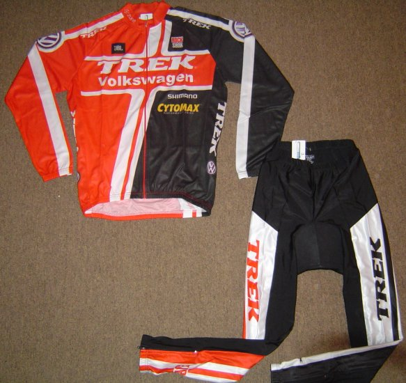 ef61dc50f VOLKSWAGEN TREK LONG SLEEVE CYCLING JERSEY   TIGHTS KIT SZ L