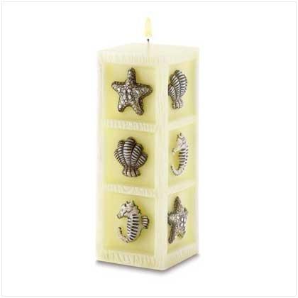 Seascape Cube Candle in a Sea-Breeze scent
