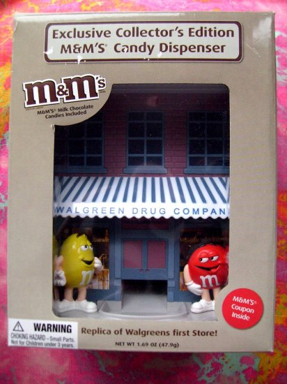 SOLD! M&M'S CANDY DISPENSER WALGREEN'S DRUG STORE MINT IN BOX Rare Limited Edition M&M