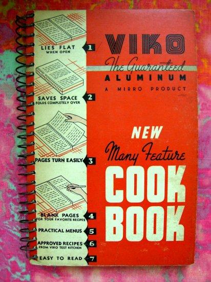 SOLD! RARE VINTAGE VIKO---MIRRO ALUMINUM COOKWARE RECIPE COOKBOOK 1939