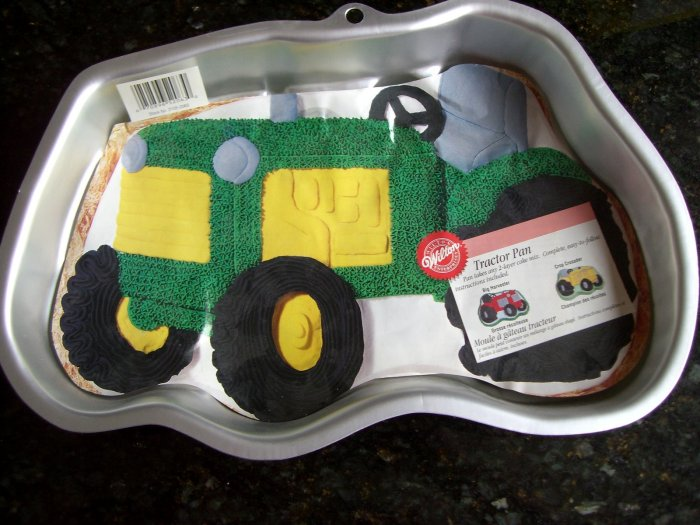 SOLD! WILTON TRACTOR CAKE PAN # 2105-2063 W/Insert Perfect for a Farmer or John Deere fan