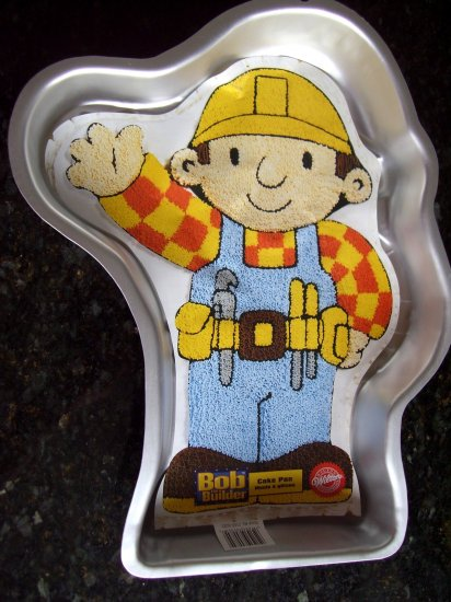 SOLD! WILTON CAKE PAN BOB THE BUILDER WITH INSERT #2105-5023 Construction or Handyman