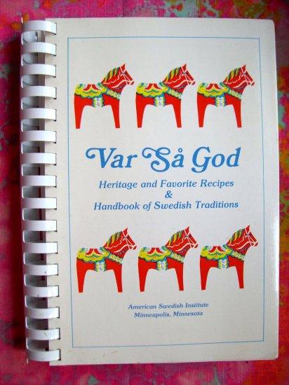Sold! Sold! Sold!  SWEDISH COOKBOOK 1982 VAR SA GOD VINTAGE MINNESOTA RECIPES MN