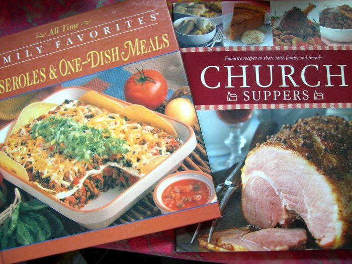 LOT CHURCH SUPPERS FAVORITE RECIPES SOCIALS DINNERS BUFFETS & CASSEROLE 1 DISH MEALS RECIPE COOKBOOK
