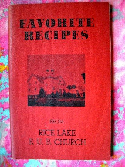 SOLD! WELLS MINNESOTA MN FAVORITE RECIPES from RICE LAKE E.U.B. CHURCH VINTAGE COMFORT FOOD RECIPES
