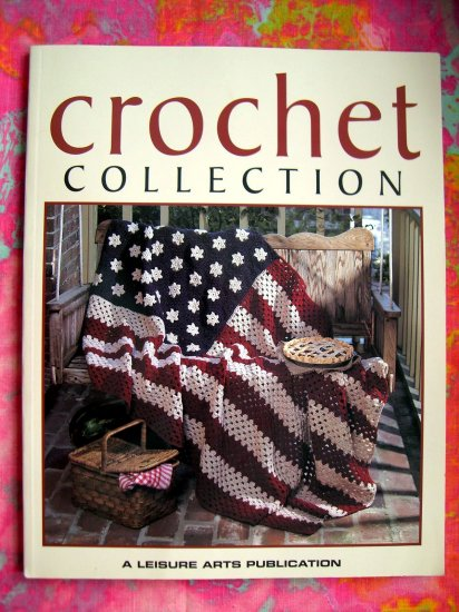 SOLD! CROCHET COLLECTION 60+ PATTERNS FOR AFGHANS & SWEATERS LEISURE ARTS PATTERN BOOK