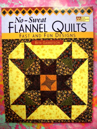 SOLD! NO SWEAT FLANNEL QUILTS QUILTING PATTERNS TEMPLATE