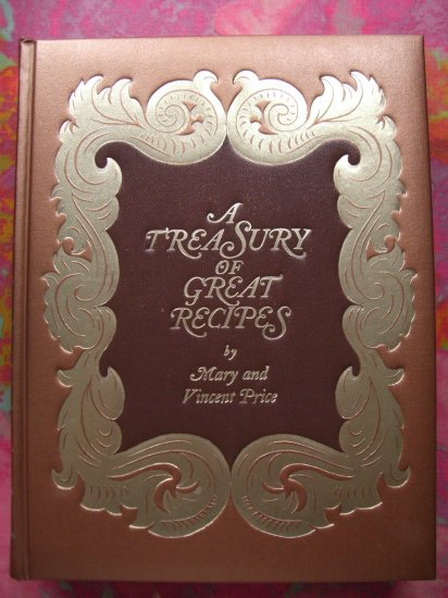 """SOLD! Rare VINCENT PRICE COOKBOOK~ """"A Treasury of Great Recipes"""" ~ Vintage 1965/1974"""