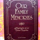 BLANK BOOK FAMILY MEMORIES HC Diary/Journal of your Family Activities Calendar