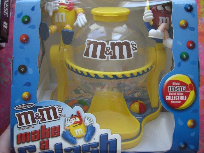 "SOLD! M&M's Rare Limited Edition 'Make a Splash"" Candy Dispenser Pool Scuba Dive Theme"