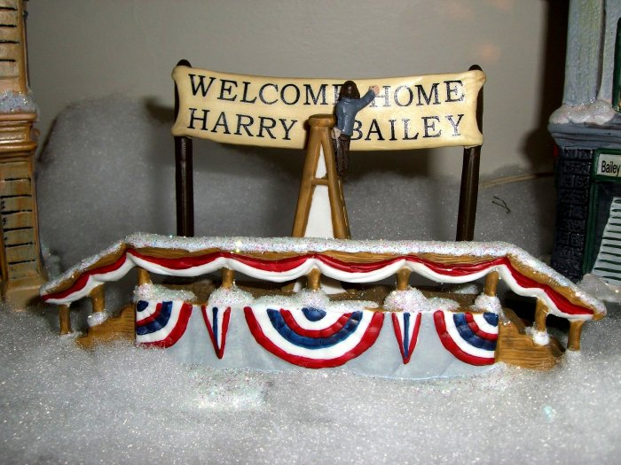 """SOLD! It's A Wonderful Life  Bandstand """"Welcome Home Harry Bailey""""  RARE Enesco Village 6 VI"""