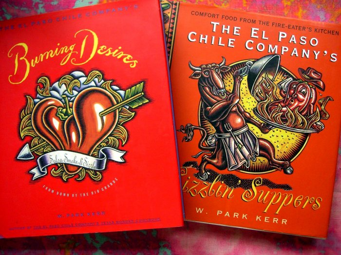 SOLD!  LOT The El Paso Chili Company Cookbook Sizzlin' Suppers & Burning Desires HCDJ TEXAS Recipe