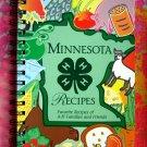 Minnesota Recipes Spiral 1995 4H Cookbook 1st Printing