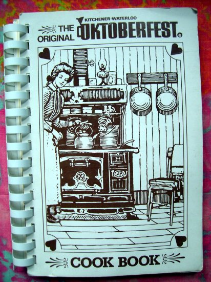 SOLD! GERMAN COOKBOOK from KITCHENER ~ WATERLOO Iowa OKTOBERFEST /Octoberfest 1980