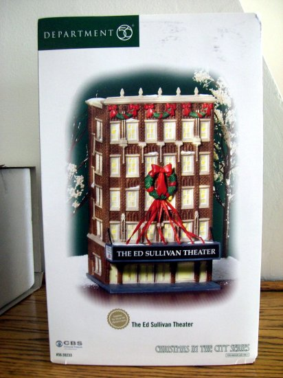 SOLD! ED SULLIVAN THEATER Dept 56 Christmas In the City Series David Letterman's Theater NEW Retired