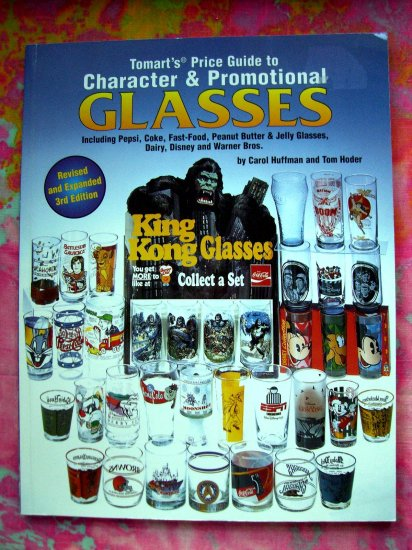 SOLD! Tomart's Price Guide BOOK to Character & Promotional Glasses Pepsi, Coke, Fast-Food & Milk